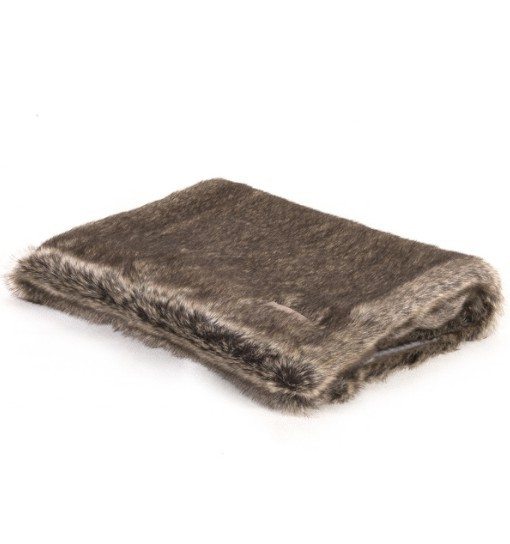 BASE Koc EXCLUSIVE Blanket Grey/Fur 80x60cm