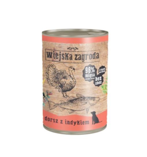 Wiejska Zagroda karma mokra - dorsz z indykiem 400g