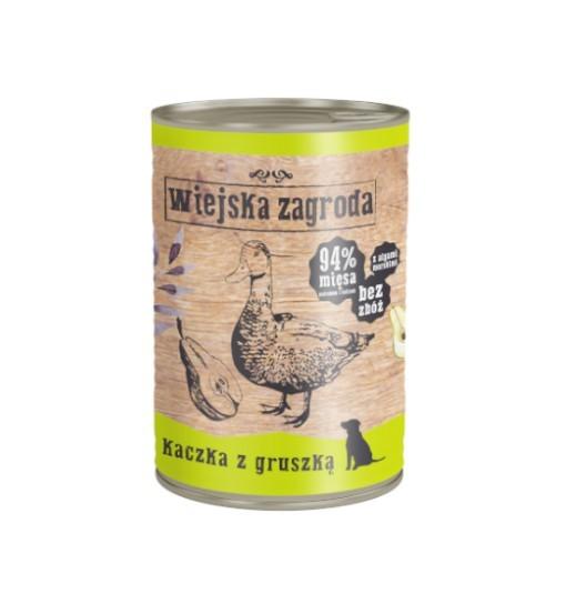 Wiejska Zagroda karma mokra - kaczka z gruszką 400g