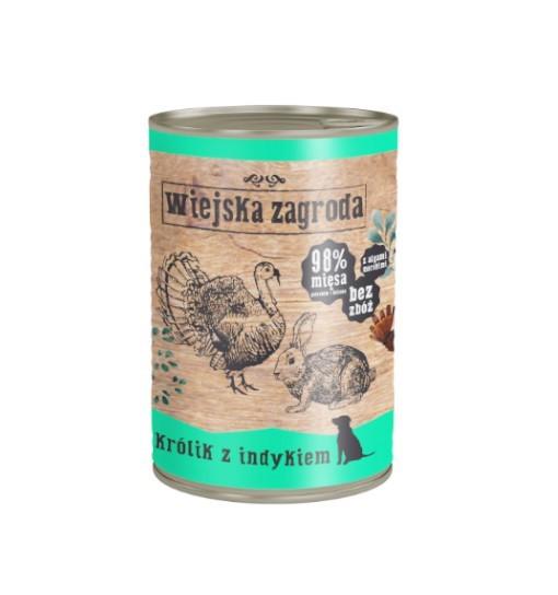 Wiejska Zagroda karma mokra - królik z indykiem 400g