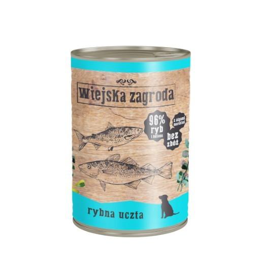 Wiejska Zagroda karma mokra - rybna uczta 400g
