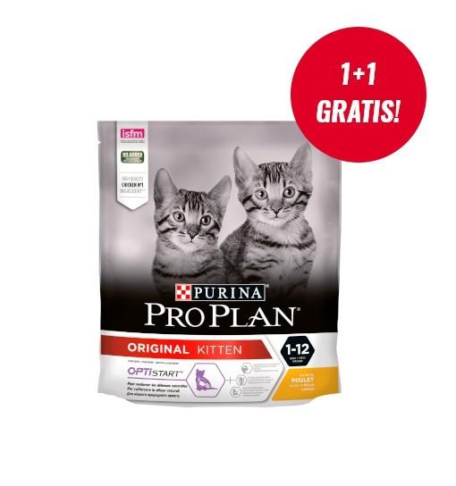 Purina Pro Plan Original Kitten Kurczak 400g + 400g