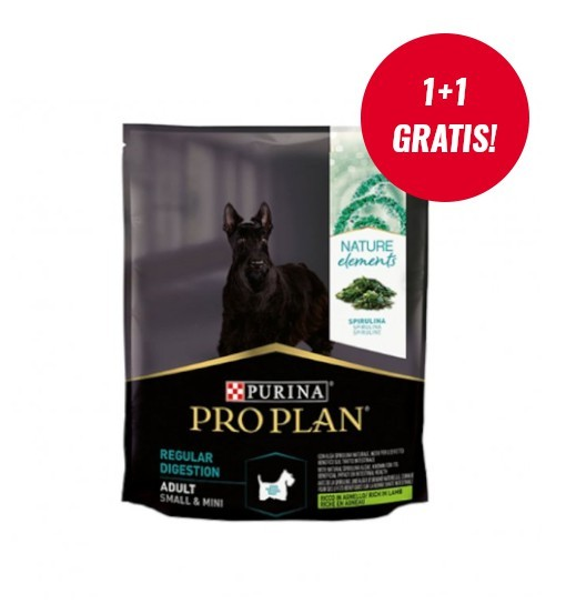 PRO PLAN Nature Elements Adult Regular Digestion - jagnięcina ze spiruliną 700g + 700g