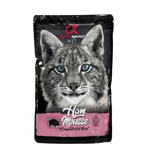 Saszetka Alpha Spirit Mus z wieprzowiny 85g /dla kotów