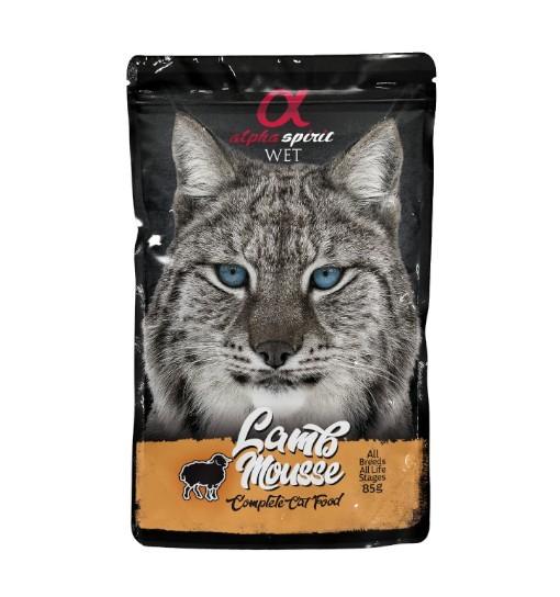 Saszetka Alpha Spirit Mus z jagnięciny 85g /dla kotów