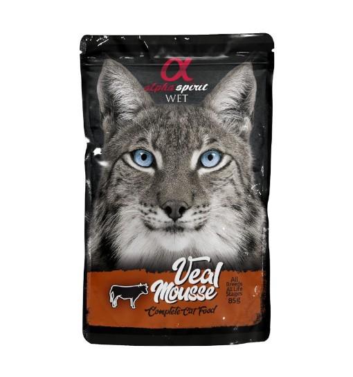 Saszetka Alpha Spirit Mus z wołowiny 85g /dla kotów