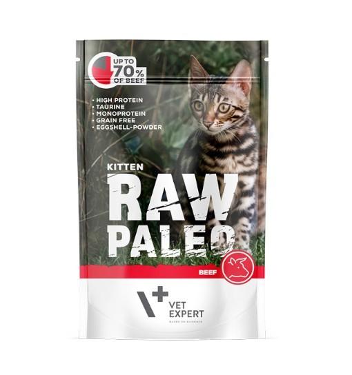 Vet Expert RAW PALEO karma mokra dla kociąt - wołowina 100g