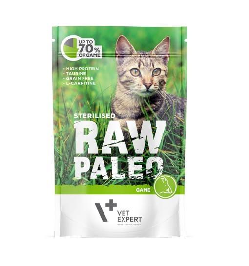 Vet Expert RAW PALEO karma mokra dla kotów sterylizowanych - dziczyzna 100g