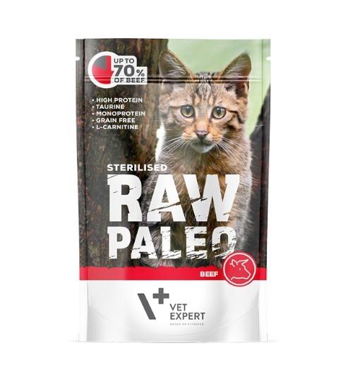 Vet Expert RAW PALEO karma mokra dla kotów sterylizowanych - wołowina 100g
