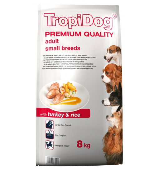 Tropidog Premium Adult Small Breeds With Turkey & Rice - Mała Rasa, Indyk i Ryż