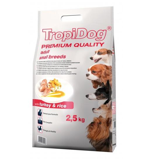 Tropidog Premium Adult Small Breeds With Turkey & Rice - Mała Rasa, Indyk i Ryż