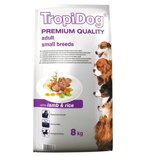 Tropidog Premium Adult Small Breeds With Lamb & Rice - Mała Rasa, Jagnięcina i Ryż