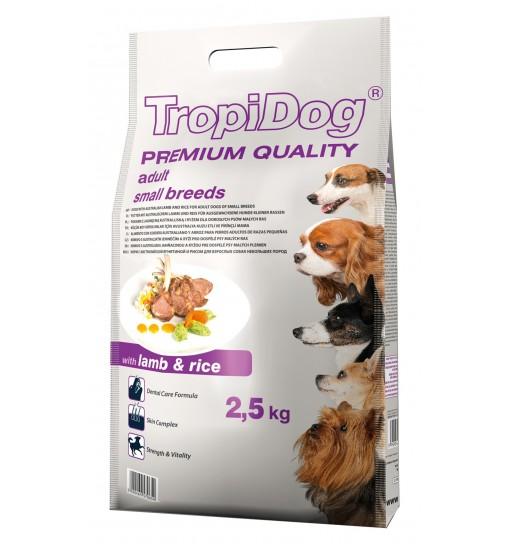 Tropidog Premium Adult Small Breeds With Lamb & Rice - Mała Rasa, Jagnięcina i Ryż