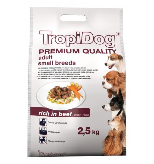 Tropidog Premium Adult Small Breeds With Beef & Rice - Mała Rasa, Wołowina i Ryż