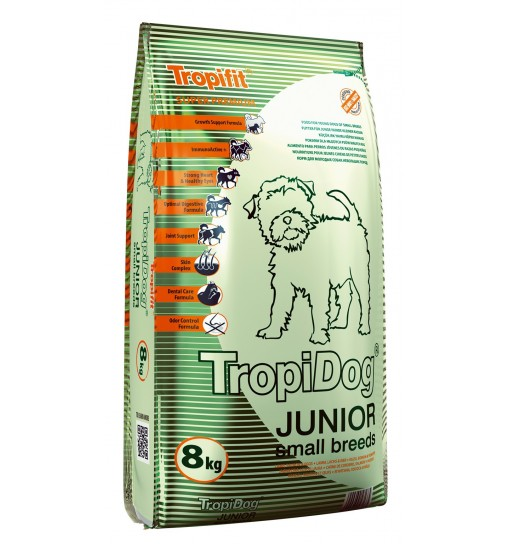 Tropidog Super Premium Junior Small Breeds With Lamb, Salmon & Eggs - Mała Rasa, Jagnięcina, Łosoś i Jajko 8 kg