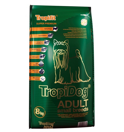 Tropidog Super Premium Adult Small Breeds With Lamb, Salmon & Rice - Mała Rasa, Jagnięcina, Łosoś i Ryż 8 kg