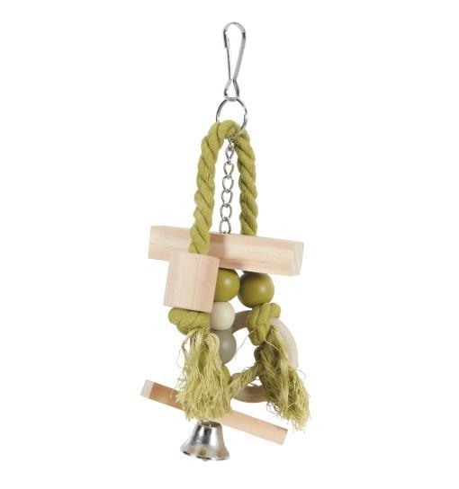 Zolux Drewniana zabawka dla papug BANJO