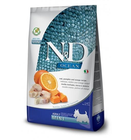 N&D OCEAN COD, PUMPKIN & ORANGE Adult Mini - dorsz, dynia i pomarańcza
