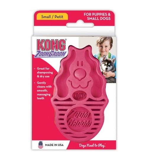 KONG ZoomGroom Raspberry L - gumowa szczotka