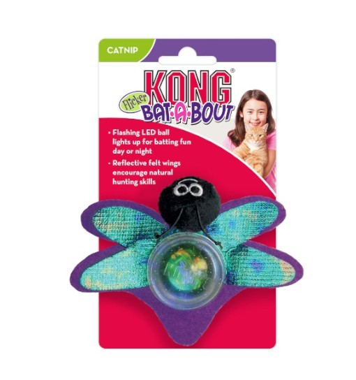 KONG Bat-A-Bout Flicker Firefly Assorte