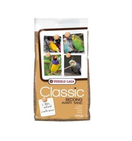 Versele-Laga Aviary Classic Bedding Sand 25kg - piasek z gritem dla ptaków
