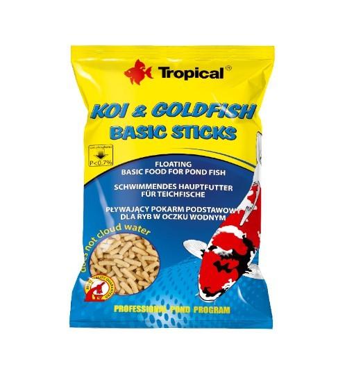Koi&Goldfish Basic Sticks worek 1000 ml/90g