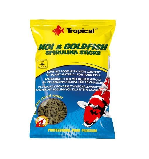 Koi&Goldfish Spirulina Sticks worek 1000ml/90g