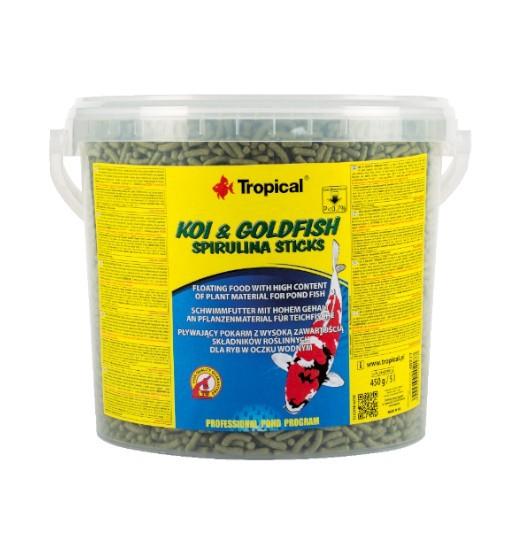 Koi&Goldfish Spirulina Sticks wiadro 5l/450g