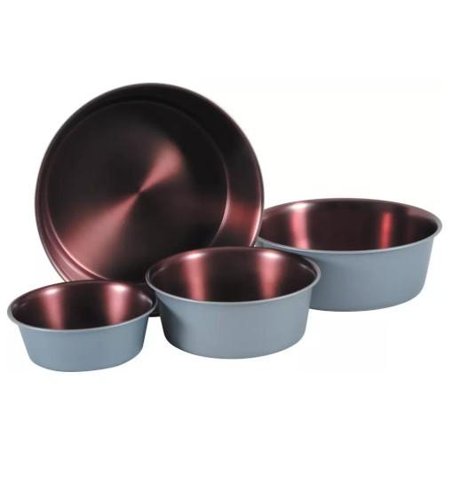 Zolux Miska antypoślizgowa Copper - szary stalowy/miedziany