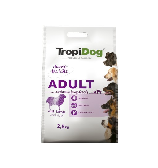 Tropidog Premium Adult Small Breeds With Lamb & Rice - Duża Rasa, Jagnięcina i Ryż