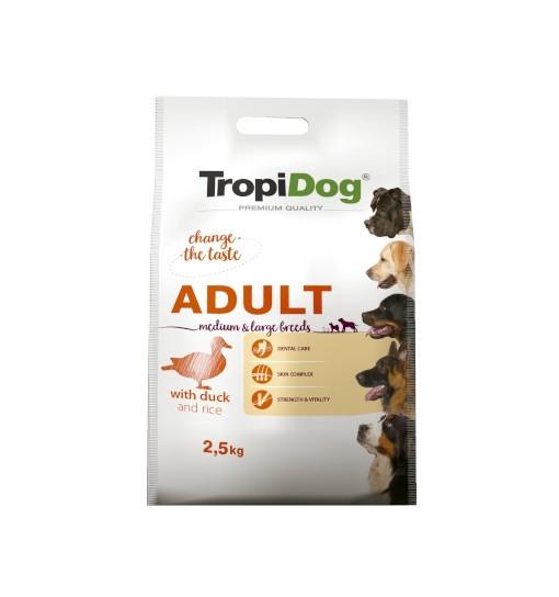 Tropidog Premium Adult Medium & Large Breeds With Duck & Rice - Duża Rasa, Kaczka i Ryż