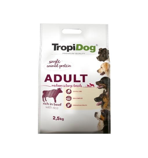Tropidog Premium Adult Medium & Large Breeds With Beef & Rice - Duża Rasa, Wołowina i Ryż