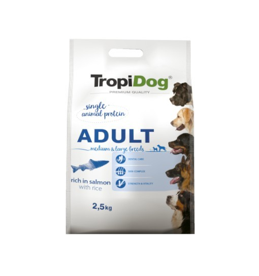 Tropidog Premium Medium & Large Breeds With Salmon & Rice - Duża Rasa, Łosoś i Ryż