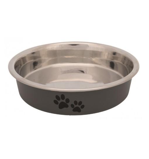Trixie Miska dla kota ze stali nierdzewnej z motywem łapek 250ml