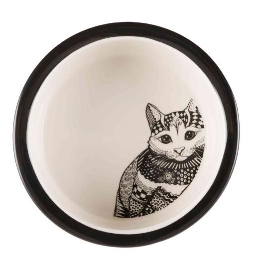 Trixie Miska ceramiczna dla kota Zentangle 0,3l