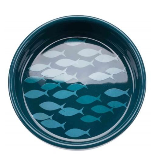 Trixie Miska ceramiczna dla kota 0,3l - petrol/niebieski