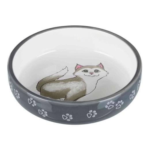 Trixie Miska ceramiczna dla kota 0,3l - szara