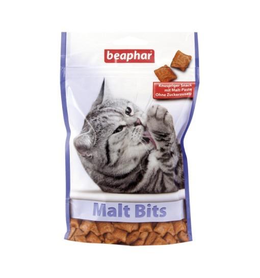 Beaphar Malt Bits 150g - przysmaki dla kotów wspomagające odkłaczanie
