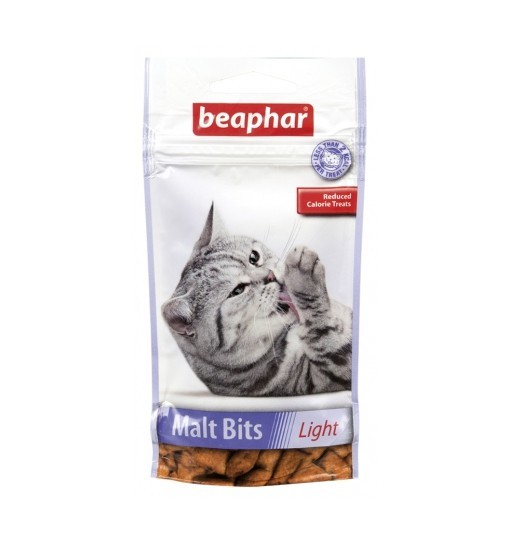 """Beaphar Malt Bits Light 35g - przysmaki dla kotów wspomagające odkłaczanie """"low calory"""""""