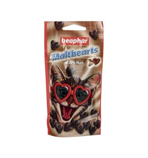 Beaphar Malt Hearts 150szt - przysmak z ekstraktem słodowym