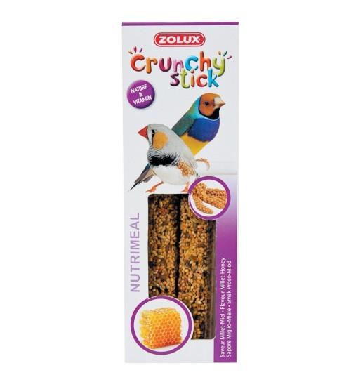 Zolux Crunchy Stick ptaki egzotyczne proso/miód 85g