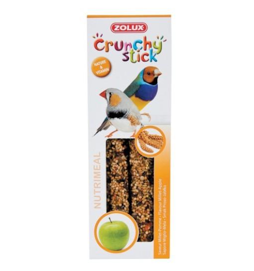 Zolux Crunchy Stick ptaki egzotyczne proso/jabłko 85g