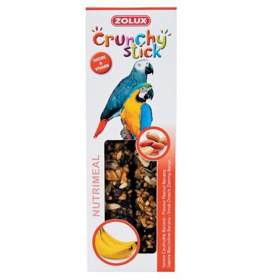 Zolux Crunchy Stick papuga orzech ziemny/banan 115g