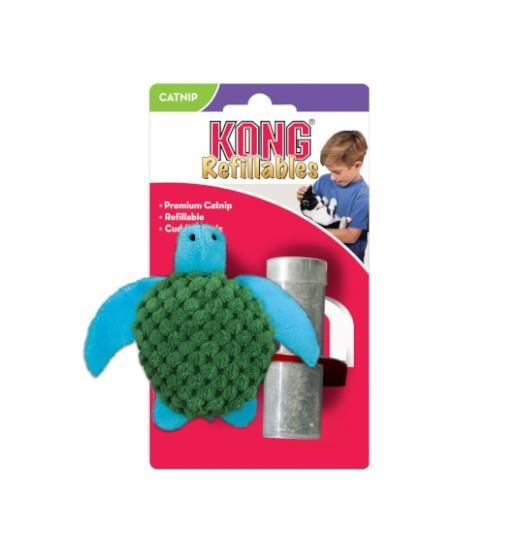 Kong Cat żółw zabawka do napełniania