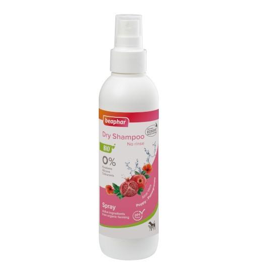 Beaphar BIO DRY SHAMPOO SPRAY 200ml - organiczny suchy szampon /dla psów i kotów
