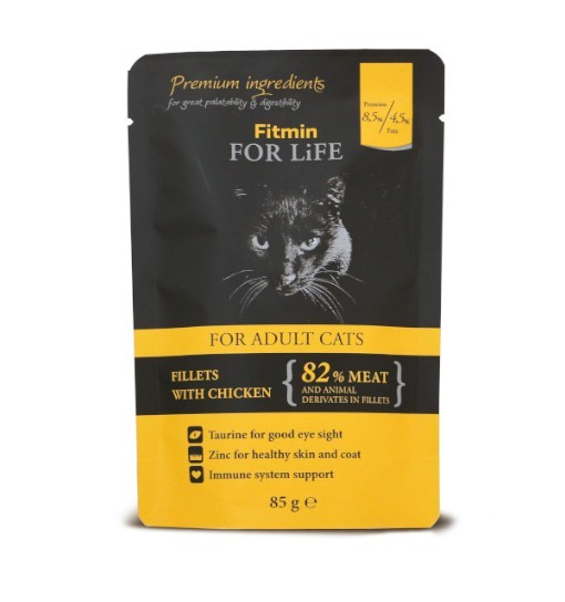 Fitmin For Life Cat Pouch Adult Chicken 85g /saszetka