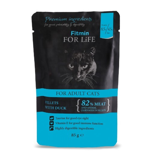 Fitmin For Life Cat Pouch Adult Duck 85g /saszetka