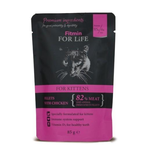 Fitmin For Life Cat Pouch Kitten Chicken 85g /saszetka
