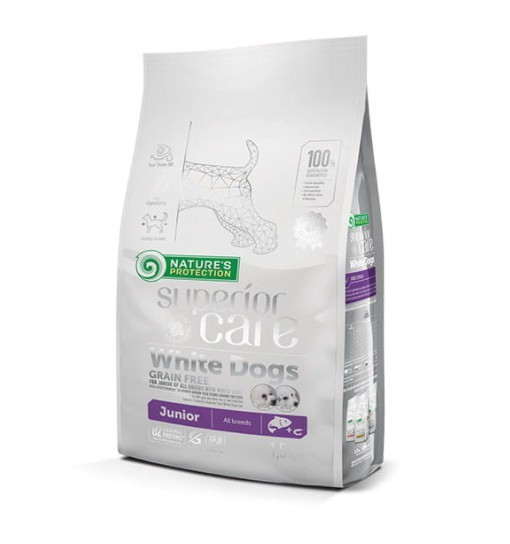 Nature's Protection White Dogs Grain Free Salmon Junior All Breeds