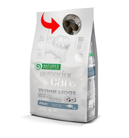 Nature's Protection White Dogs Grain Free White Fish Adult Large Breeds